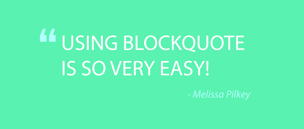 Quote about blockquote