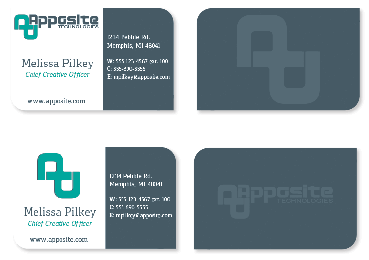 Apposite Technoloties business cards