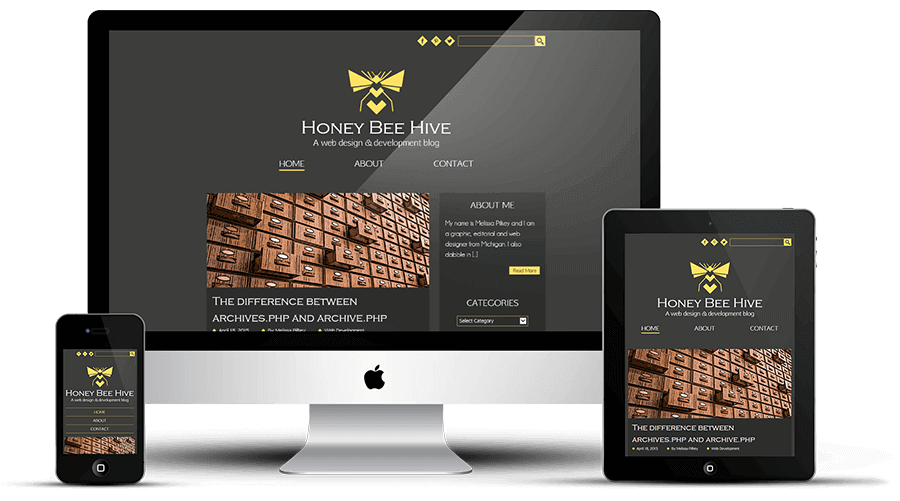 Honey Bee Hive responsive blog