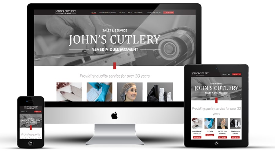 John's Cutlery responsive website