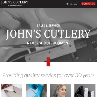 John's Cutlery website
