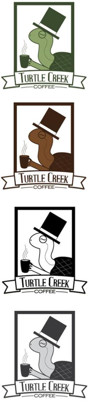 Turtle Creek Coffee logo concept one