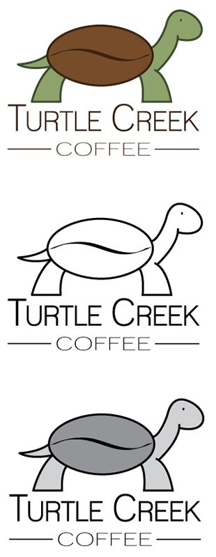 Turtle Creek Coffee logo concept two